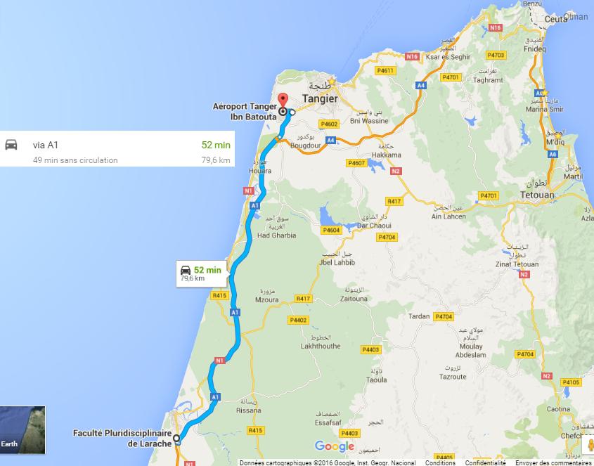 Aéroport Tanger + FP Larache